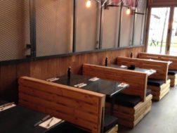 تصميم ديكور مطعم خشبي