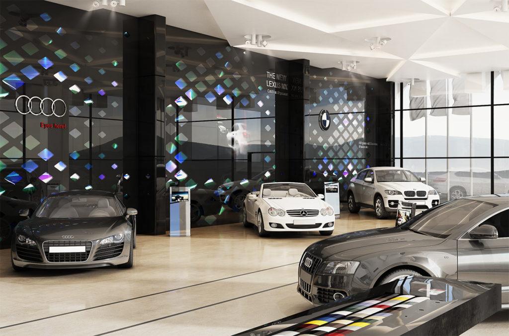 تصميم ديكور معرض سيارات