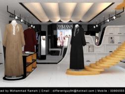 تصميم ديكور محل ثياب رجالية