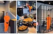 تصميم مطعم على شكل سجن