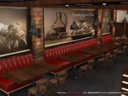 تصميم ديكور محل مطعم باستا