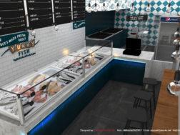 تصميم محل سمك