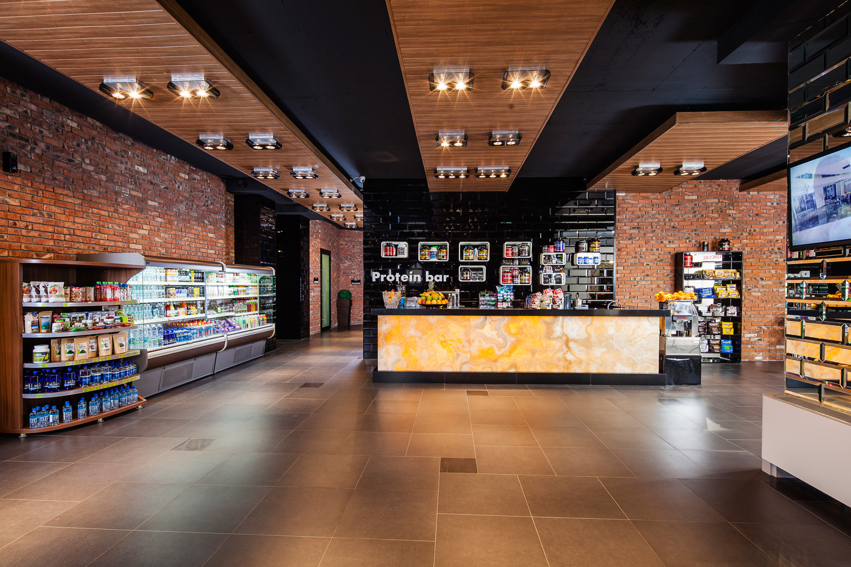 تصميم محل مكملات غذائية
