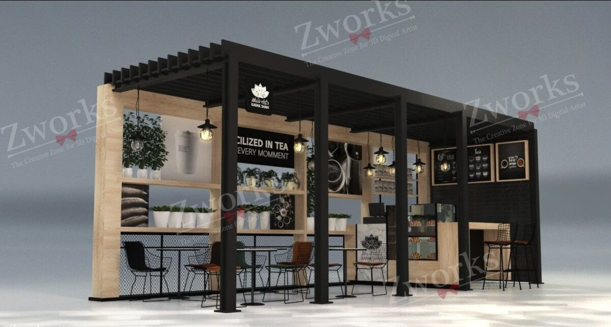 Coffee Outdoor 3D Model