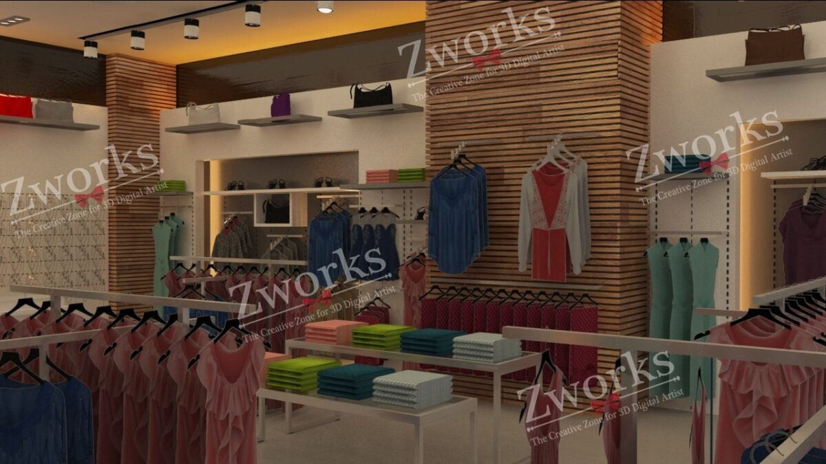 Clothing Store 3d Model (Copy)