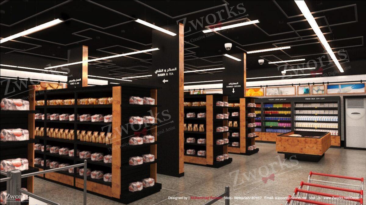 Amazon go Supermarket Interior Design 3D model