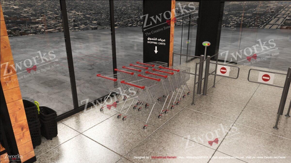 Amazon go Supermarket Interior Design 3D model (Copy)