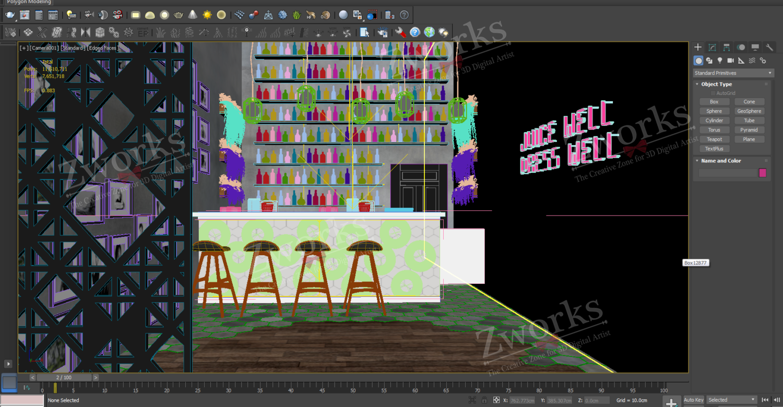 Bar Interior Design 3D Model (Copy)