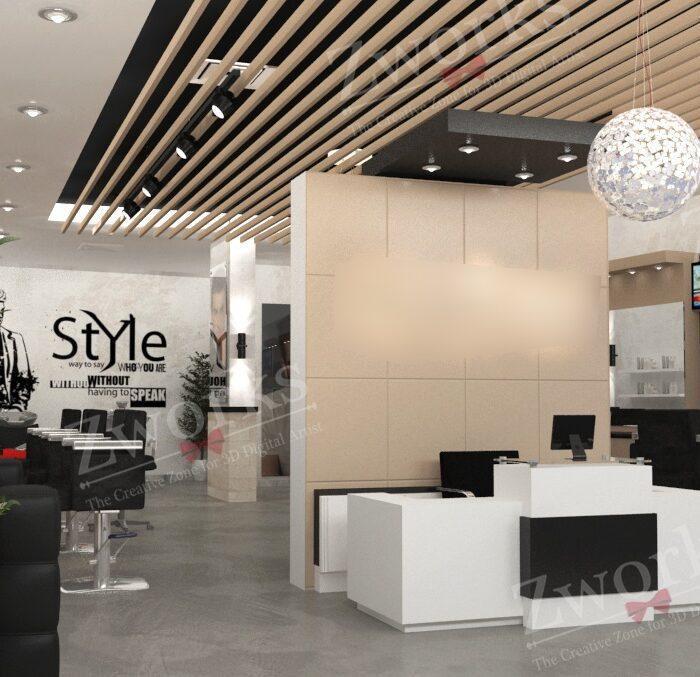 Barber Shop 3D Model
