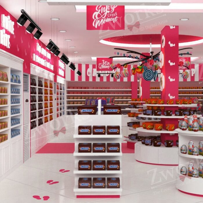 Candy & Sweet Store 3D Model