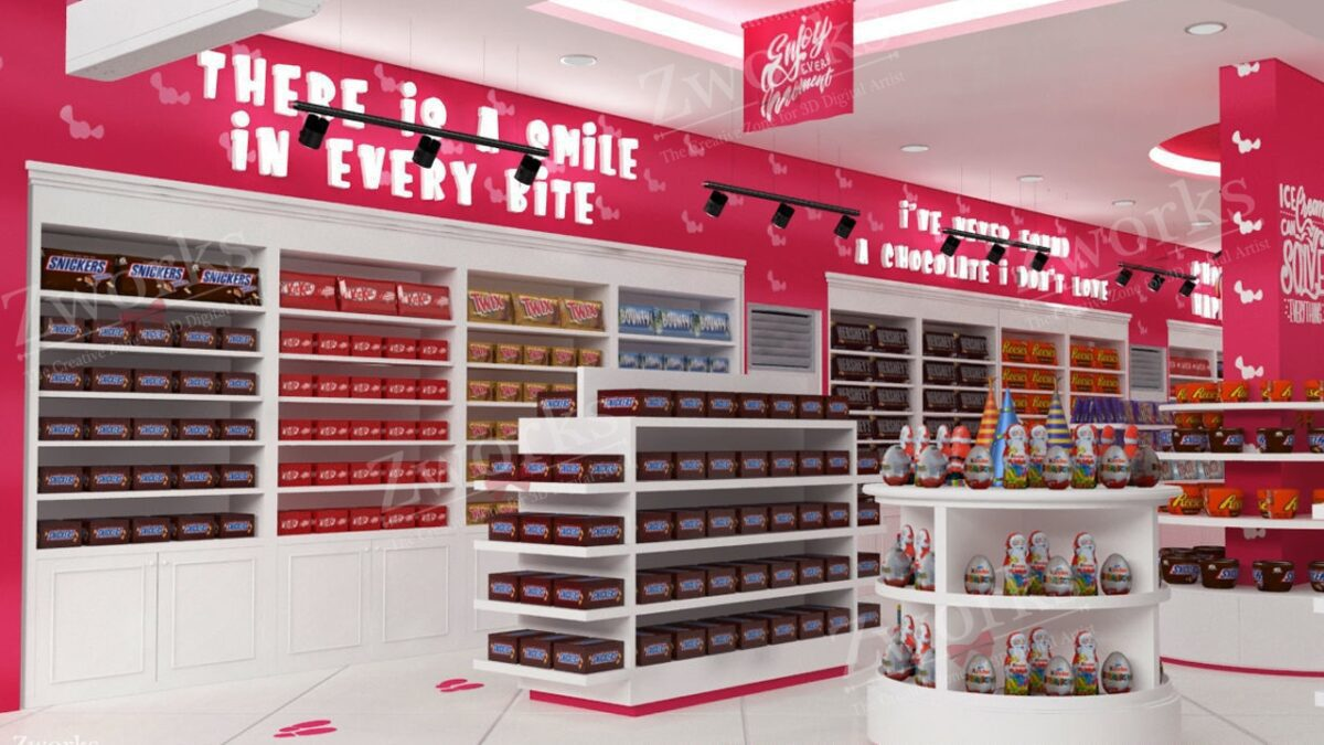 Candy & Sweet Store 3D Model (Copy)
