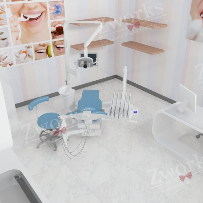 Clinic Interior Design 3D Model