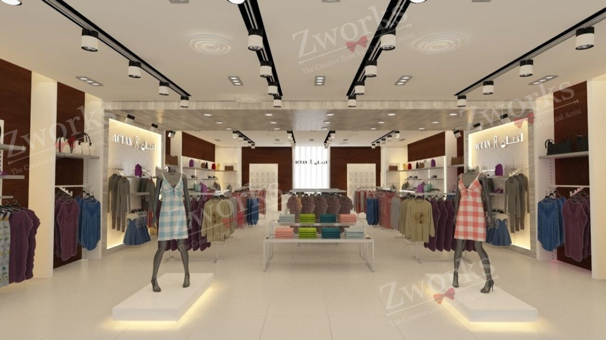 Clothing Store for women 3D Model