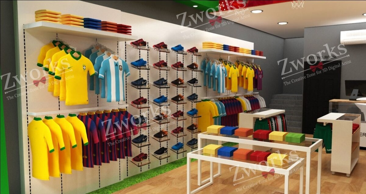 Sport Clothing Store 3d Model (Copy)