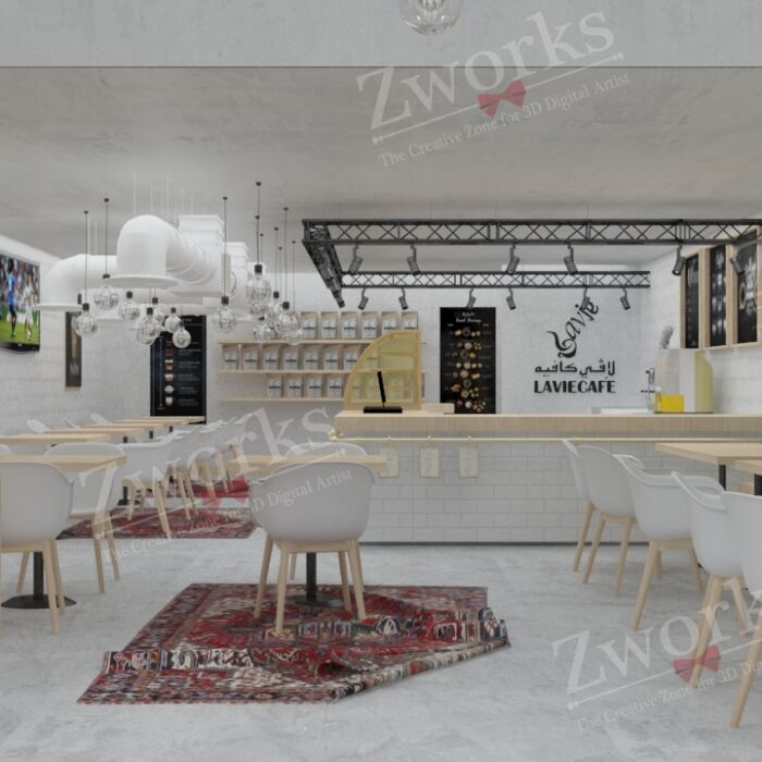 Coffee Interior Design 3D Model