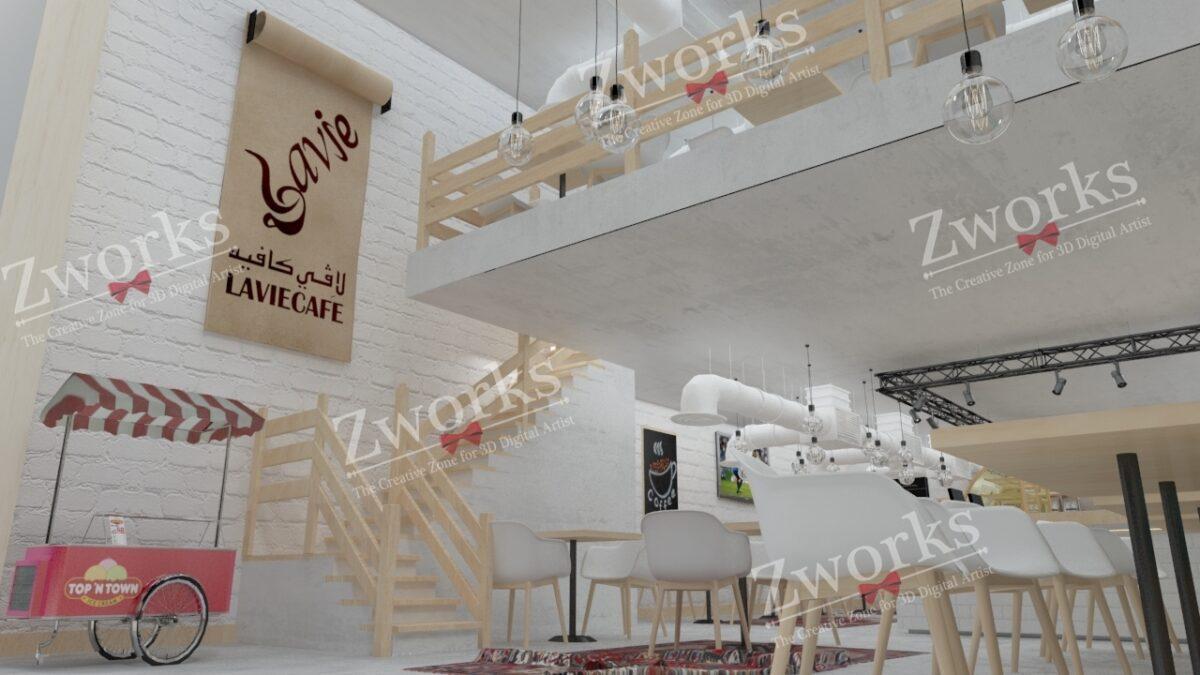 Coffee Interior Design 3D Model (Copy)