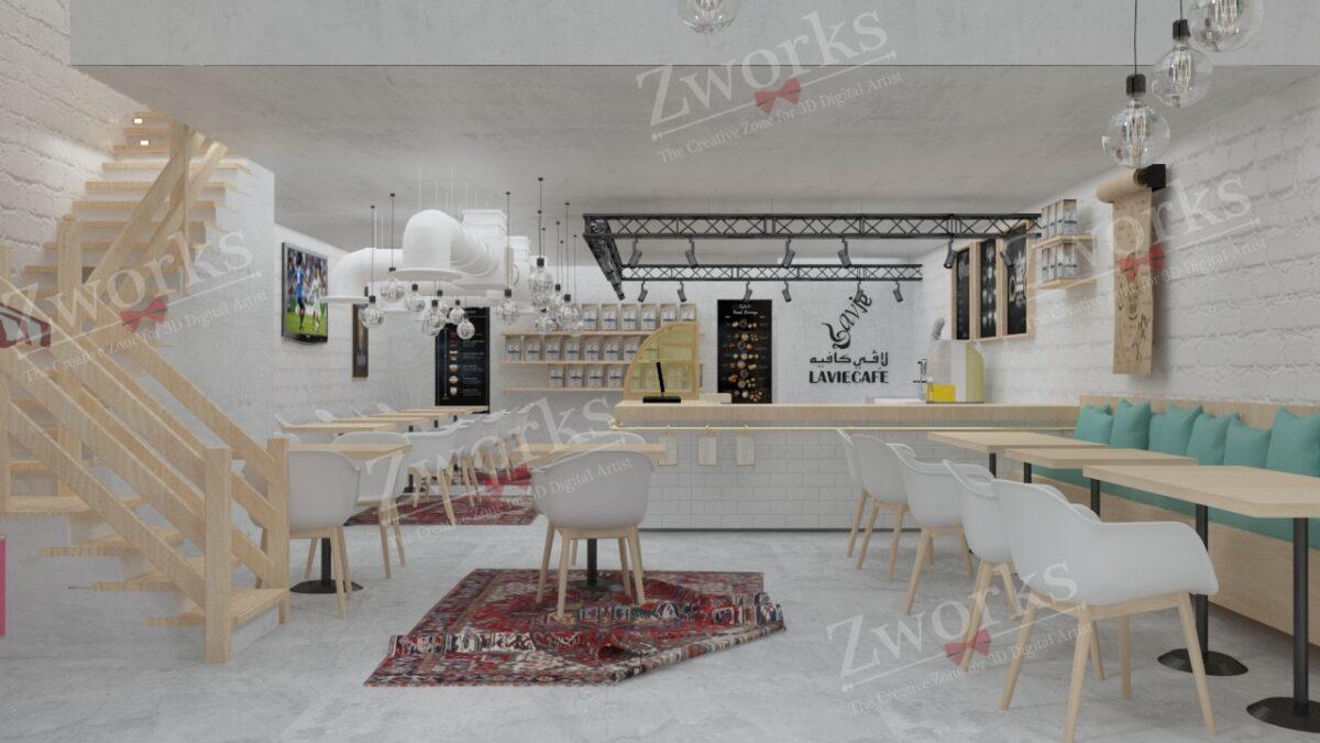 Coffee Interior Design 3D Model