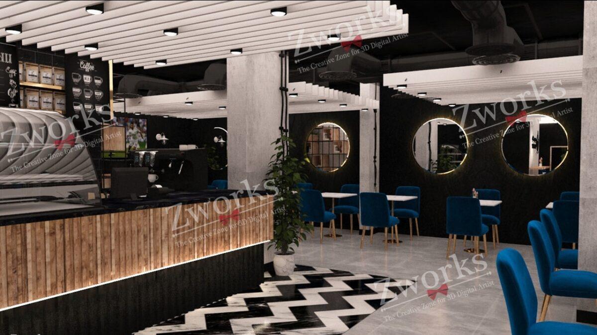 Coffee Shop 3D Model (Copy)