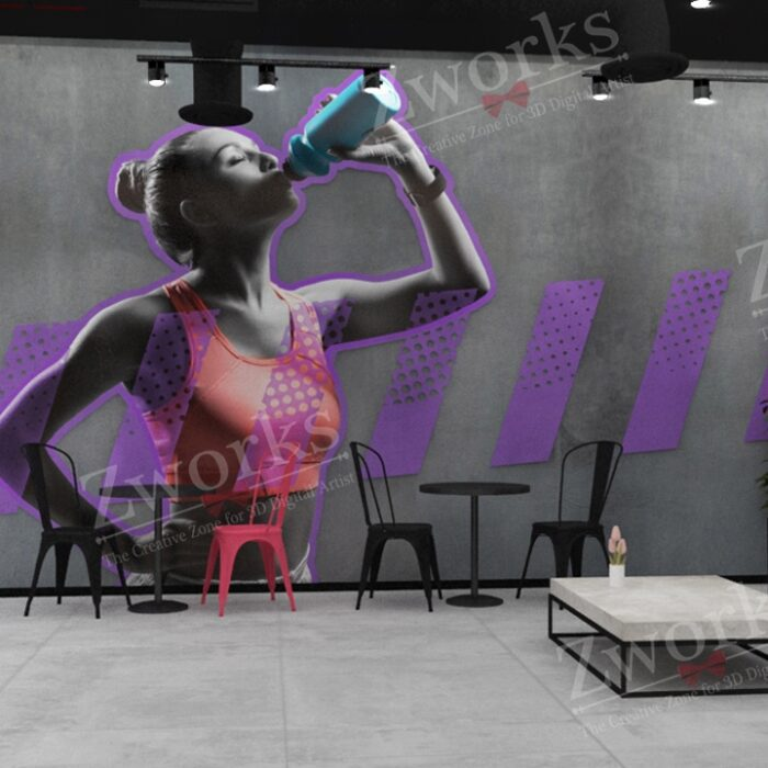 Gym Interior Design 3D Model