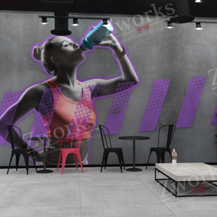 Gym Interior Design 3D Model