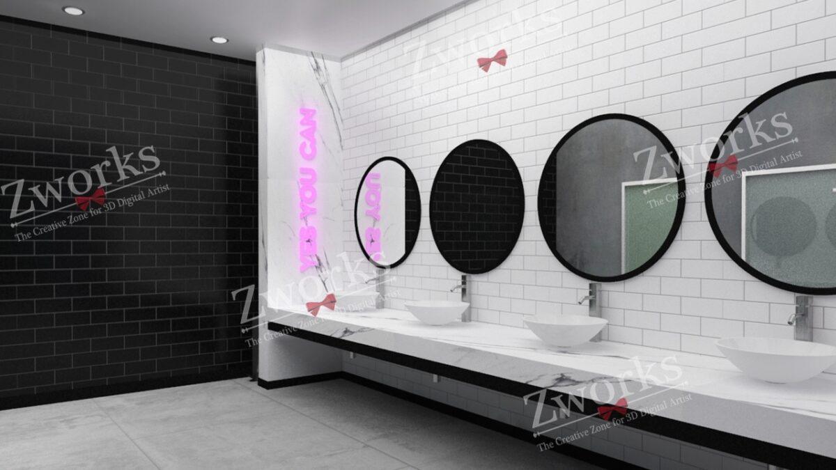 Gym Interior Design 3D Model (Copy)