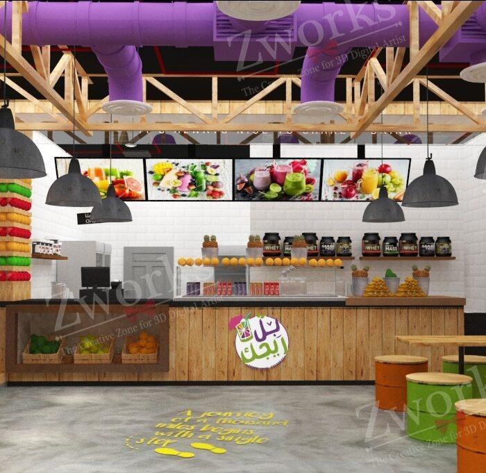 Juice Store 3D Model