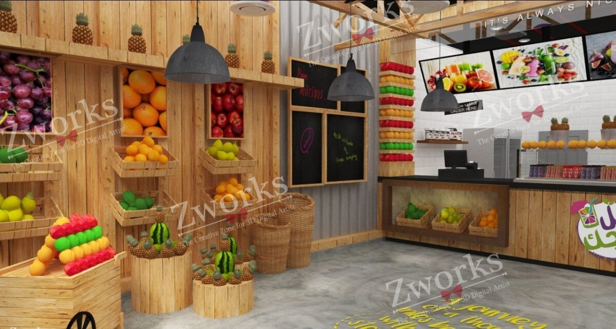 Juice Store 3D Model (Copy)