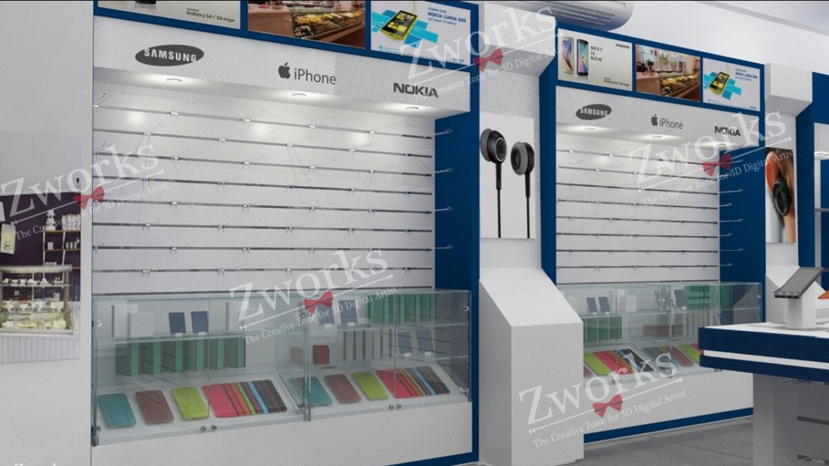 Mobile Store 3D Model (Copy)