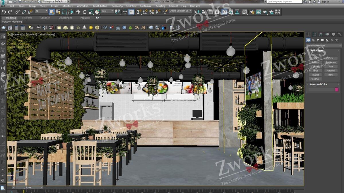 Salad Interior Design 3D Model (Copy)