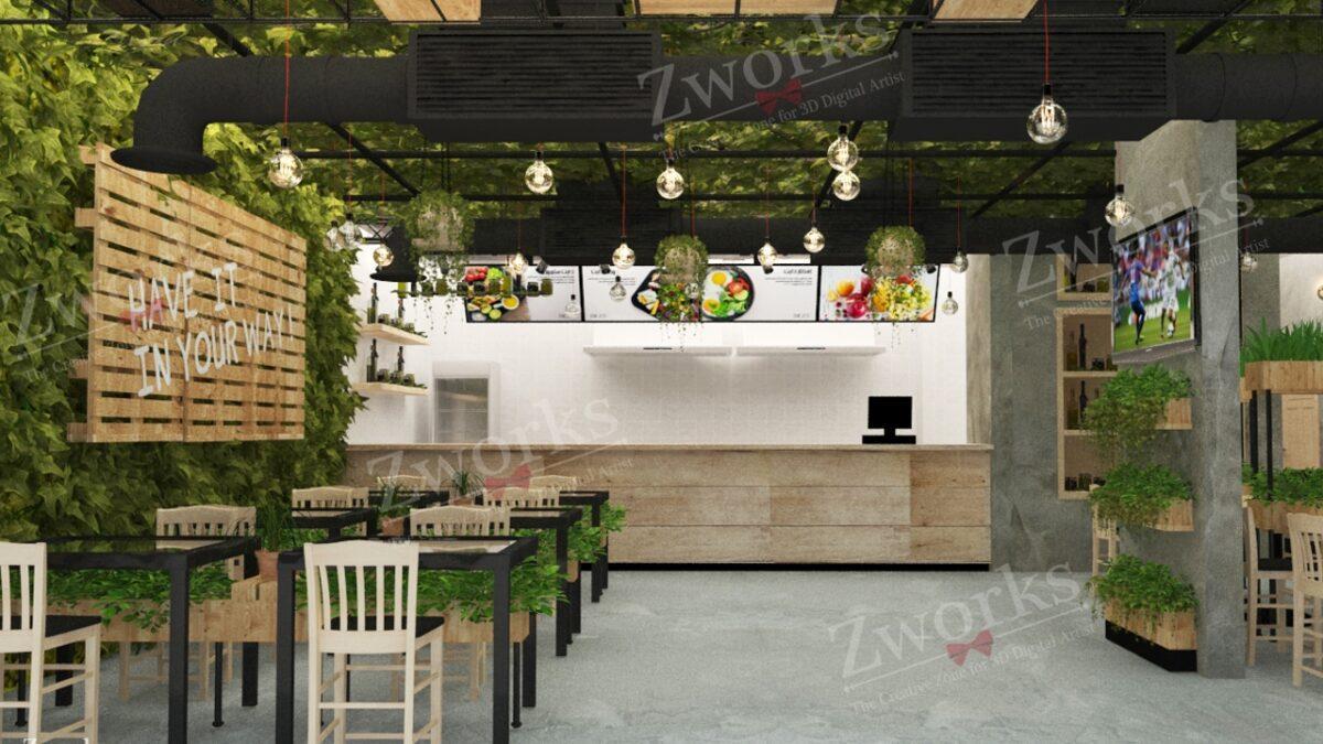Salad Interior Design 3D Model
