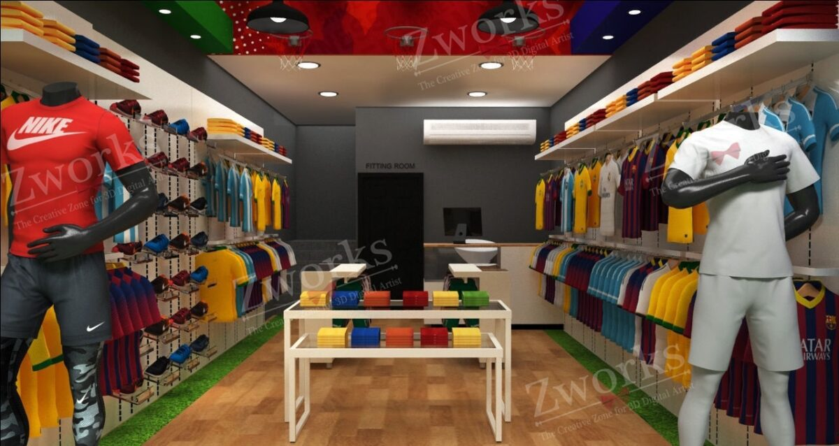 Sport Clothing Store 3d Model