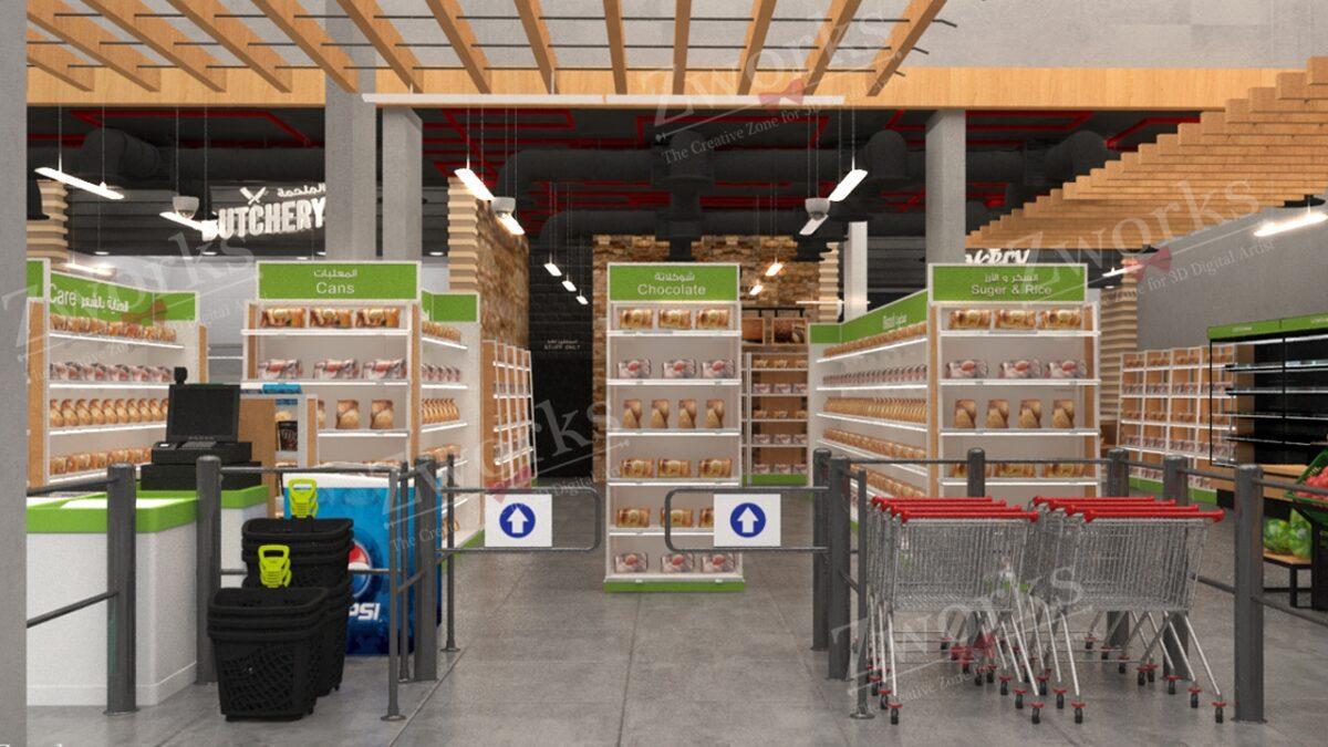 Supermarket Grocery 3D Model