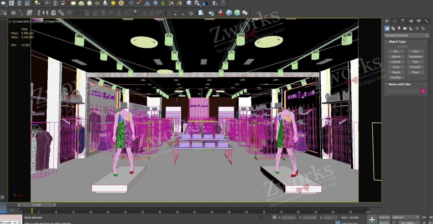Clothing Store for women 3D Model (Copy)