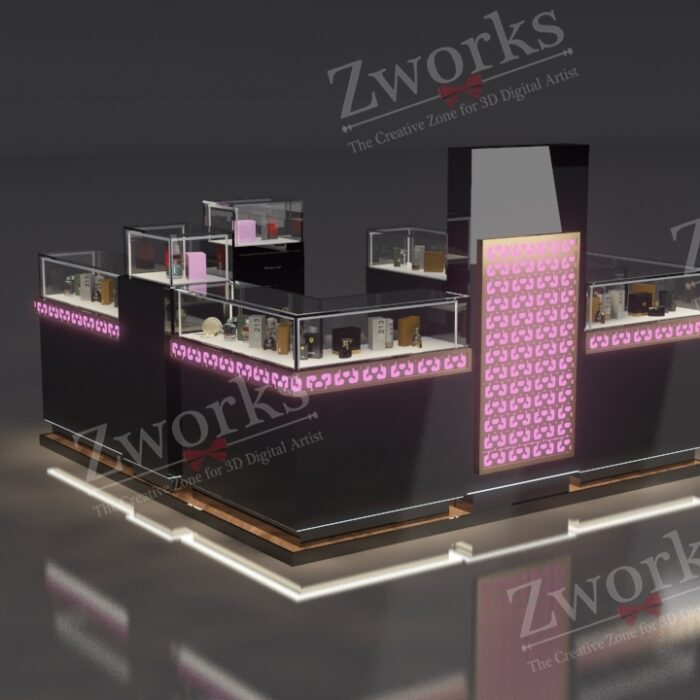 Perfume Booth Stand 3D Model