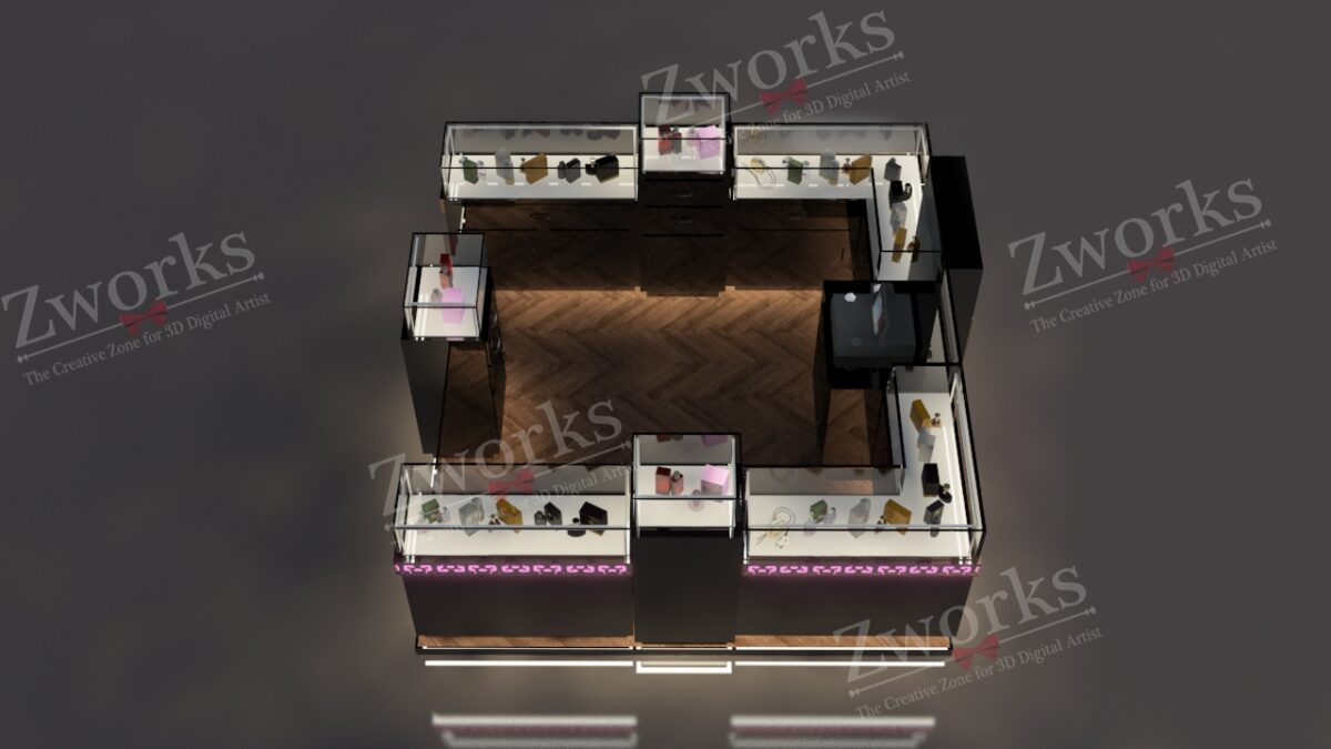 Perfume Booth Stand 3D Model (Copy)