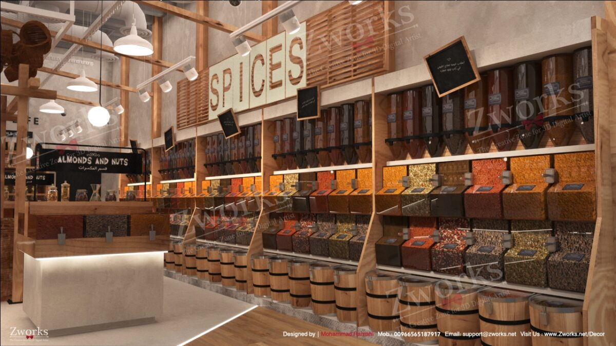 Roaster Store Interior Design 3D Model