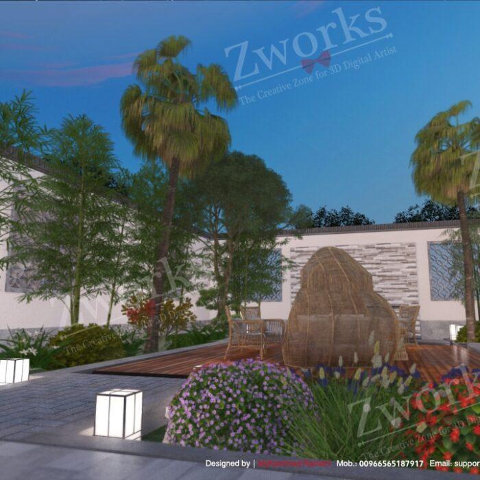 Landscape Outdoor 3D Model