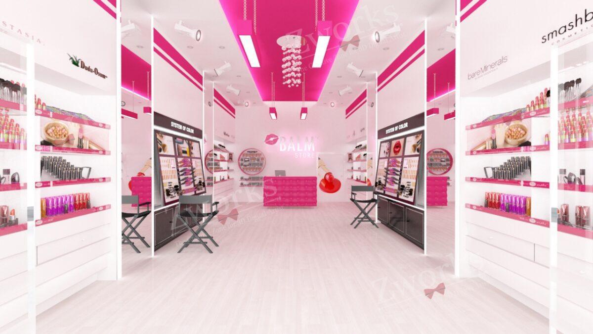 Makeup Shop Interior Design 3D Model
