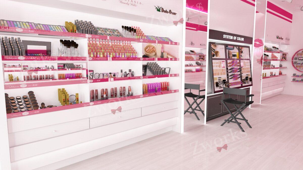 Makeup Shop Interior Design 3D Model (Copy)