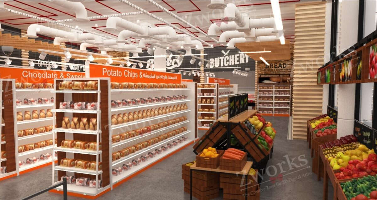 Supermarket Grocery 3D Model (Copy)